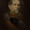 """Charles Dickens"" (oil on canvas) by Tais Nikitenko"