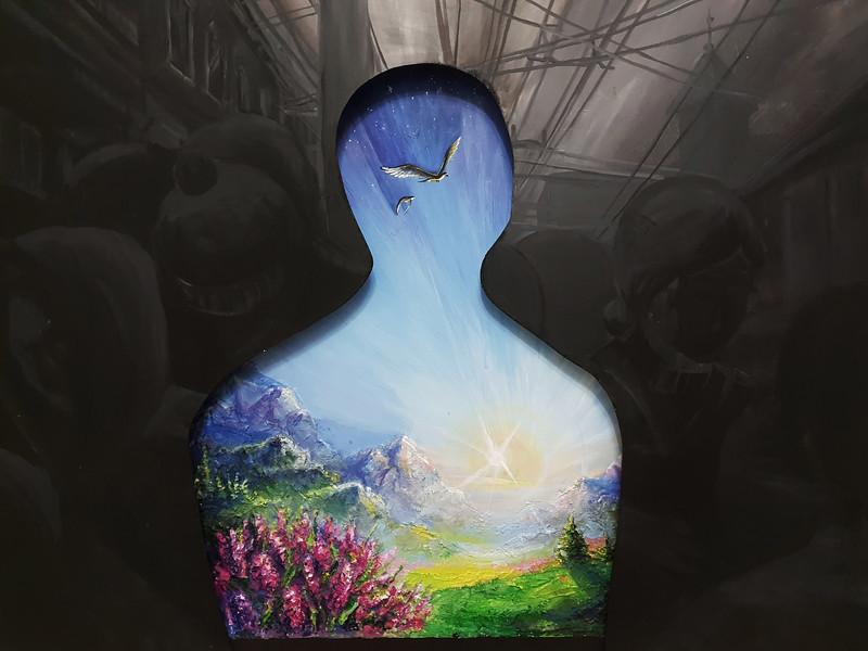 """""""Inside"""" (acrylic on plywood) by Ekaterina Andreeva"""