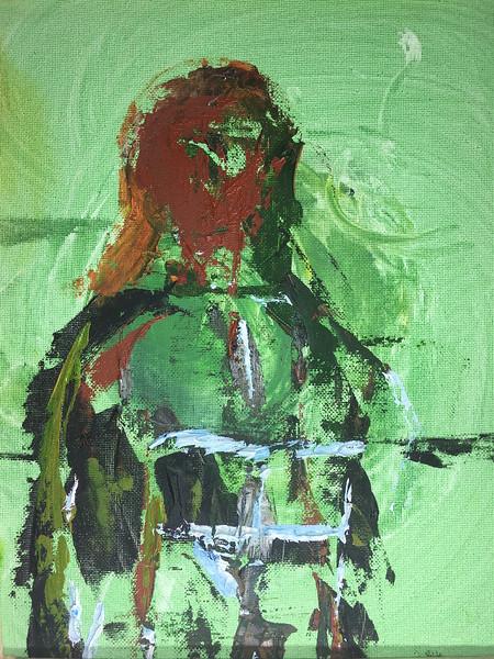 """""""Standing Soul"""" (oil) by Harold Barnard"""