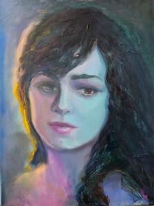 """Ambiance #5"" (oil on canvas) by Nadezda Tarasova"