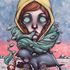 """Green smoke"" (watercolor, ink) by Arseniy Nikitin"