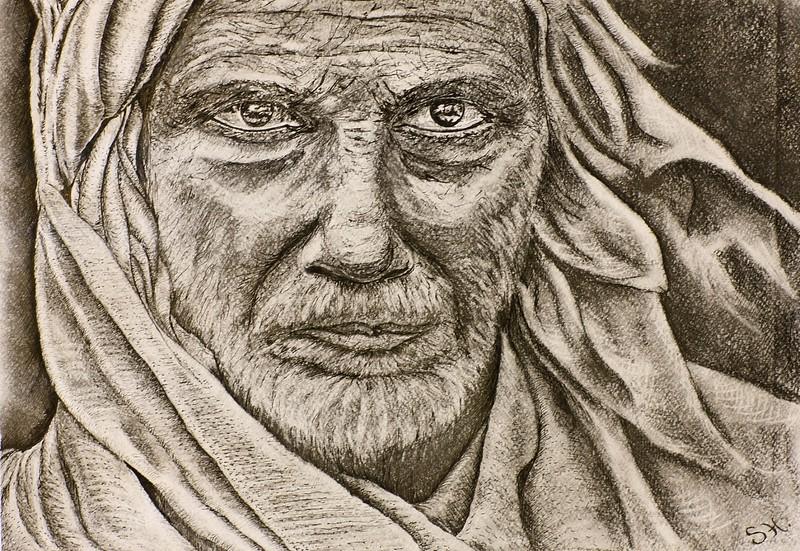 """Wisdom"" (pencil, ink) by Svitlana Tykhonravova"