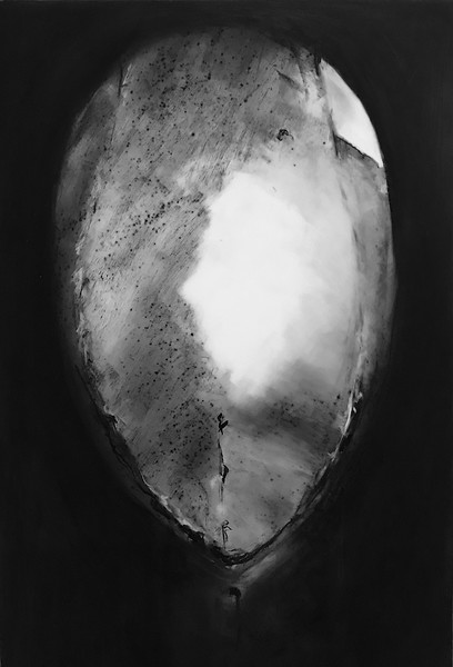 """""""Just A Moment # 7"""" (charcoal on frosted mylar) by Susan Fraser-Hughes"""