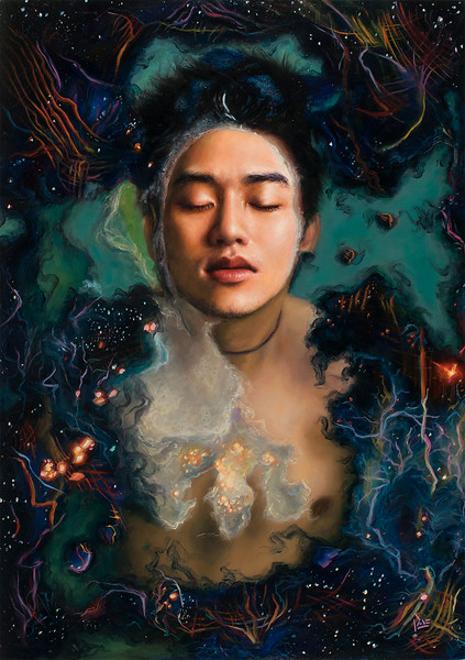 """""""From Above"""" (oil on panel) by Tiffany Dae"""