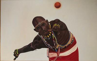 """Masai"" (oil on canvas) by Hanna Bochek"