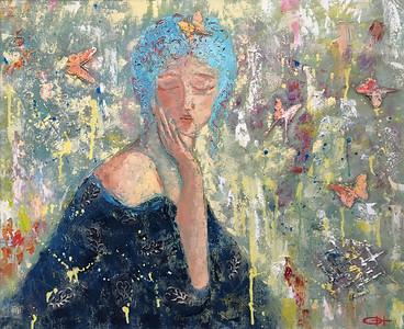 """""""Dreamer"""" (oil on canvas) by Olesya Novikova"""