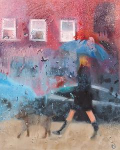 """""""Encounter 2"""" (oil) by Monika Csanyi"""