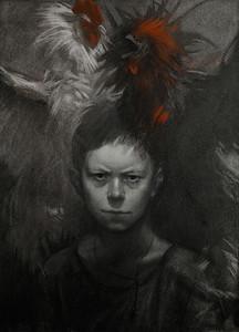 """Boy"" (sauce, sangine, chalk) by Jane Glebash"