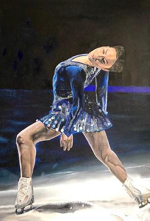 """""""Blue Velvet"""" (oil on canvas) by Ekaterina Demenina"""
