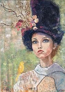 """""""Bird"""" (oil on canvas) by Olesya Novikova"""