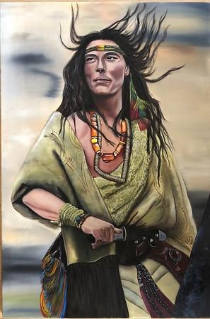 """Indian"" (oil on canvas) by Hanna Bochek"