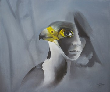 """""""What are you hiding inside?"""" (oil on canvas) by Tais Nikitenko"""