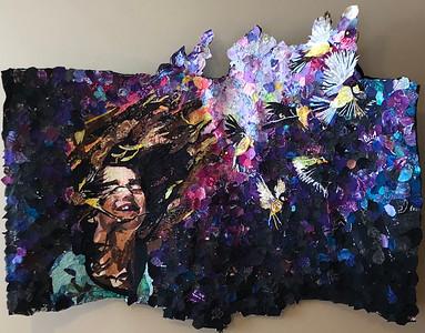 """Luella"" (fabric and thread) by Blair Treuer"