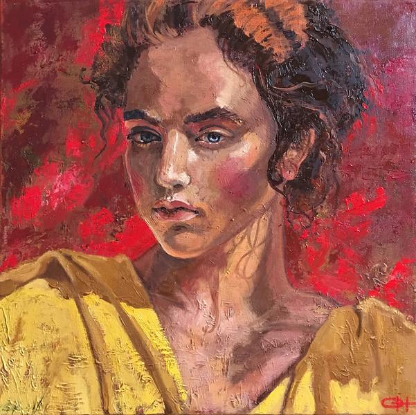 """Creole"" (oil on canvas) by Olesya Novikova"