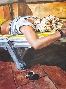 """Tuscan Break"" (watercolor) by Deborah Reitbauer"