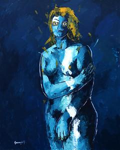 """untitled"" (acrylic on cardboard) by Hnatiuk Olena"