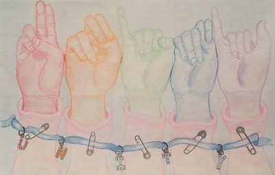"""""""Unity"""" (colored pencil) by Angela Colonna"""