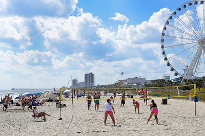 Beach volleyball tournament.