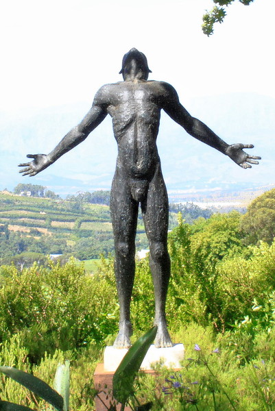 Male sculpture, Constantia Valley, SA (C) 2011