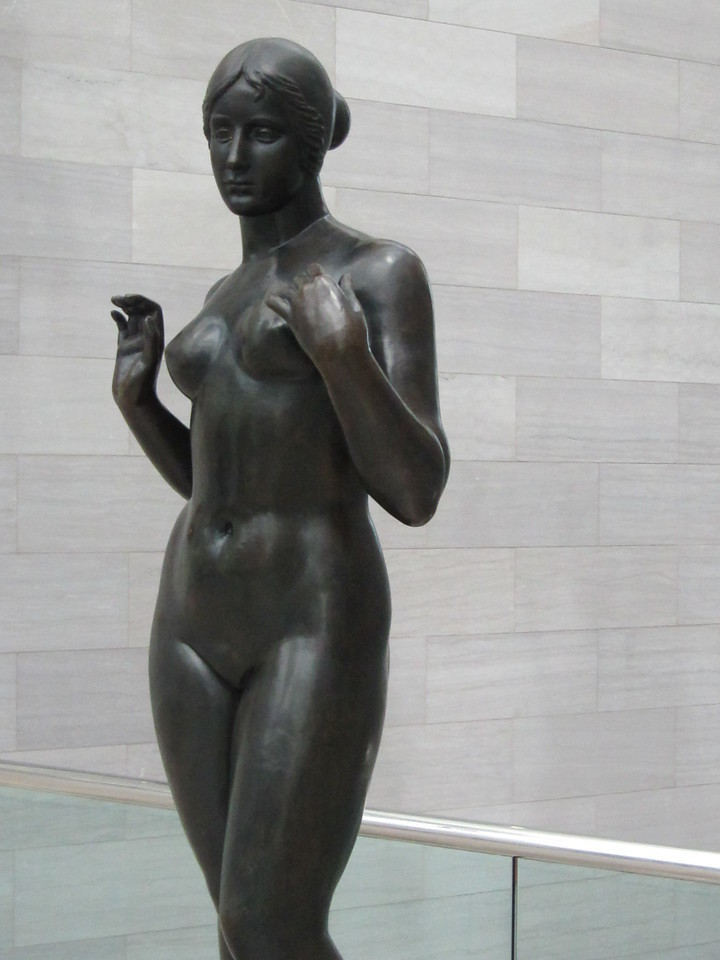 Sculpture of woman, East Wing, DC (C) 2012