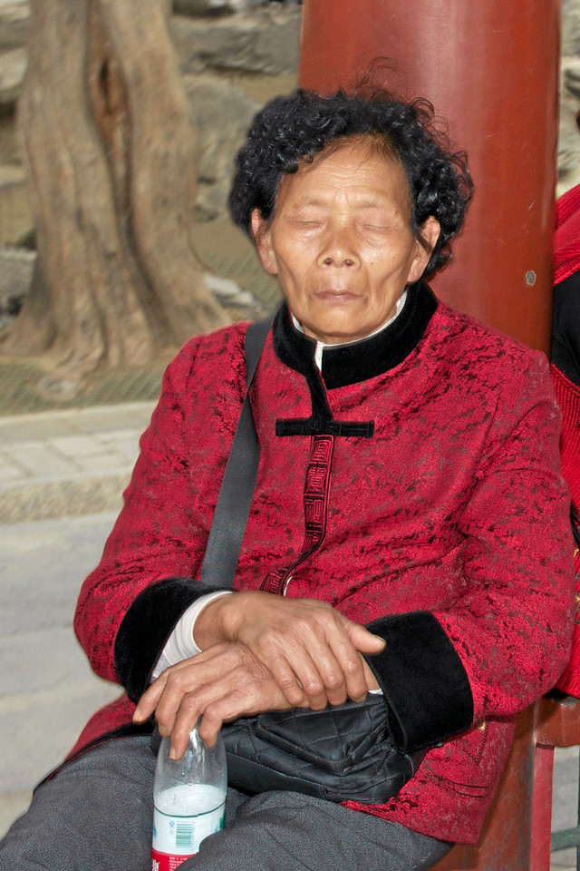 Chinese Lady Sleeping (c) 2011
