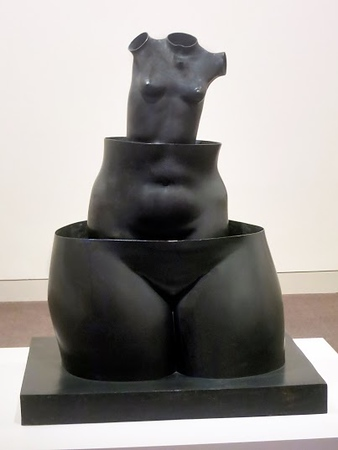Delusions of Grandeur, telescopic female form, Rene Magritte, Baltimore Museum of Art (c) 2015