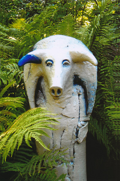 Goat sculpture by Shin Sango, Longhouse Reserve, East Hampton, (C) 2011