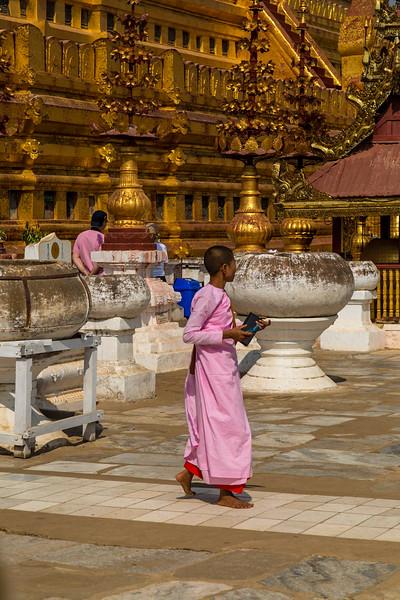 Nun at Shwezigon Pagoda