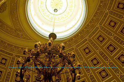 Gilded, bright, ornate interior of the USA Washington Capitol Dome (USA Washington D.C.)