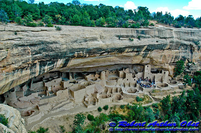 Ancient inspiring Pueblo Cliff Palace in Mesa Verde National Park (USA CO Mesa Verde)