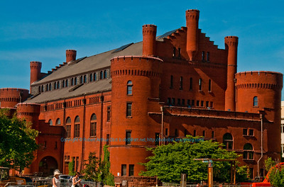 Cerulean Skies over Radiant Red built in 1894 Armory Old Red Gym of the University of Wisconsin Madison (USA WI)