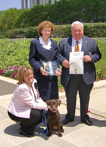 Tracey Van Hook - Leon County Humane Society, Rep. Leslie Waters and Sen. Jim King