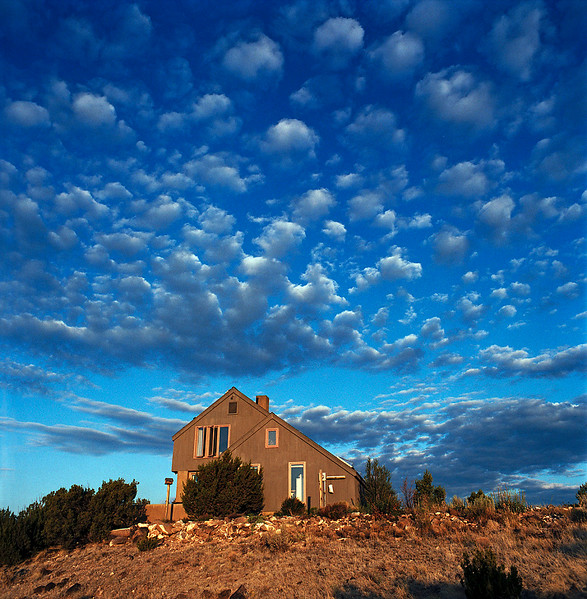 House and Clouds - New Mexico