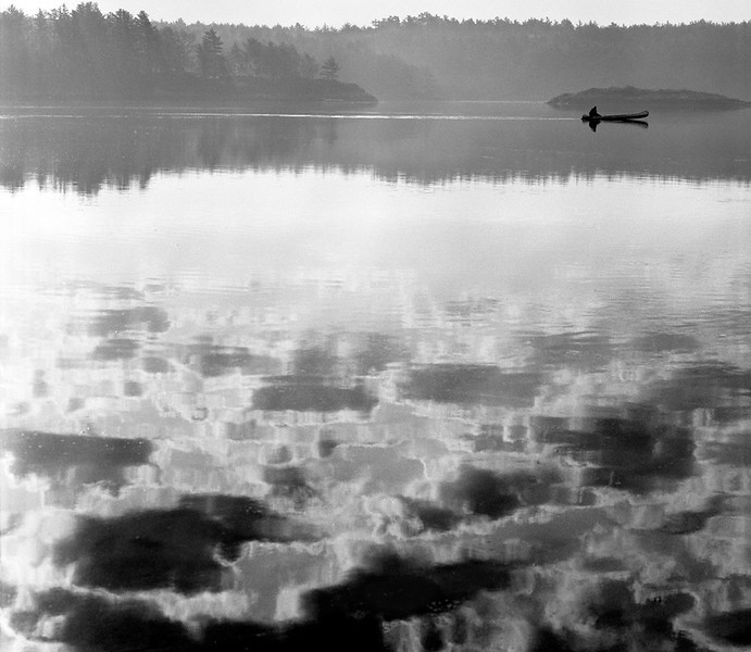 Canoe and Clouds - Beal Island, ME