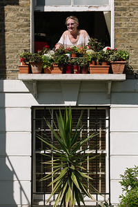 Anthea sits at her window doing some crossword puzzles on a sunny afternoon on Wednesday 25th 2020.