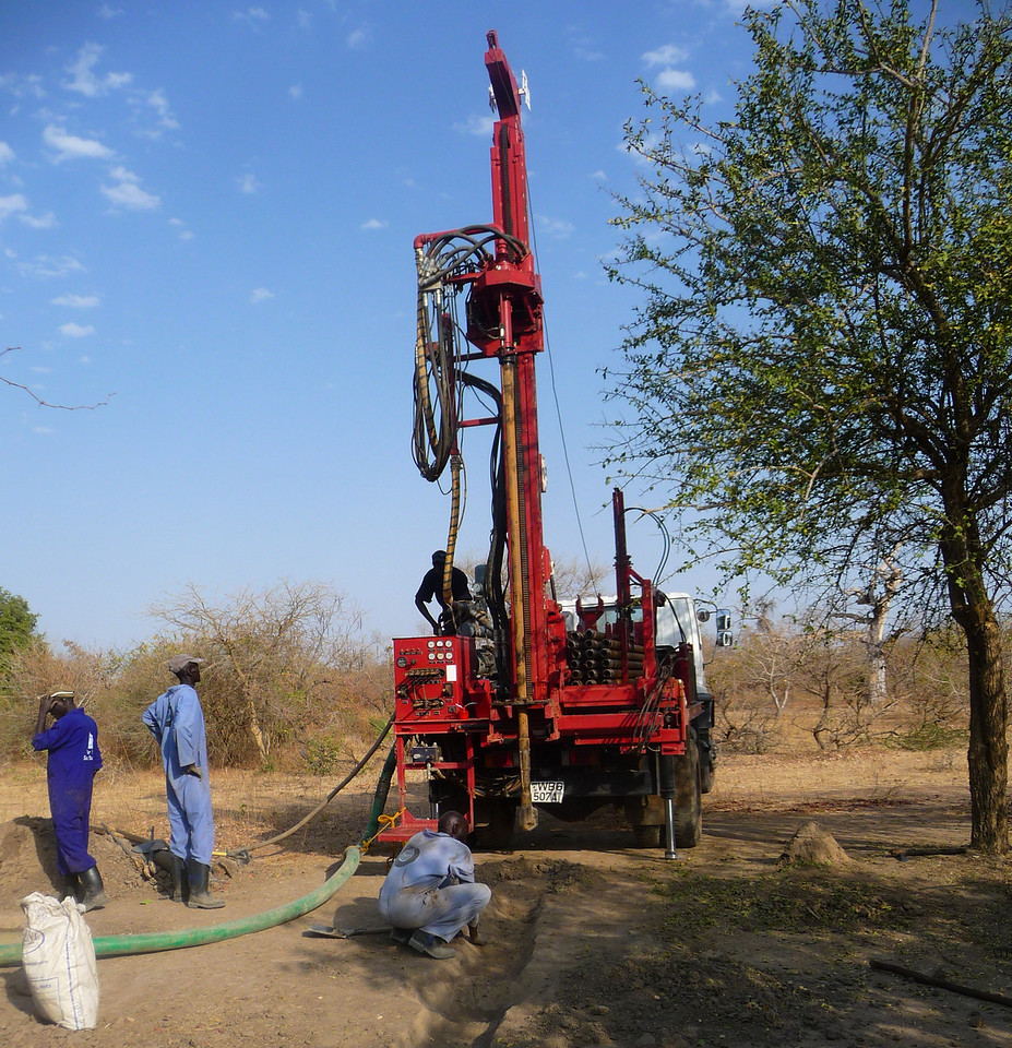 We're also pleased that Bol and Mou found a group that uses South Sudanese drillers. We're providing employment for skilled laborers!