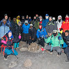 Our group at 12:30 a.m. on the day of our final ascent up Mount Kilimanjaro. The temperature was 10 degrees.