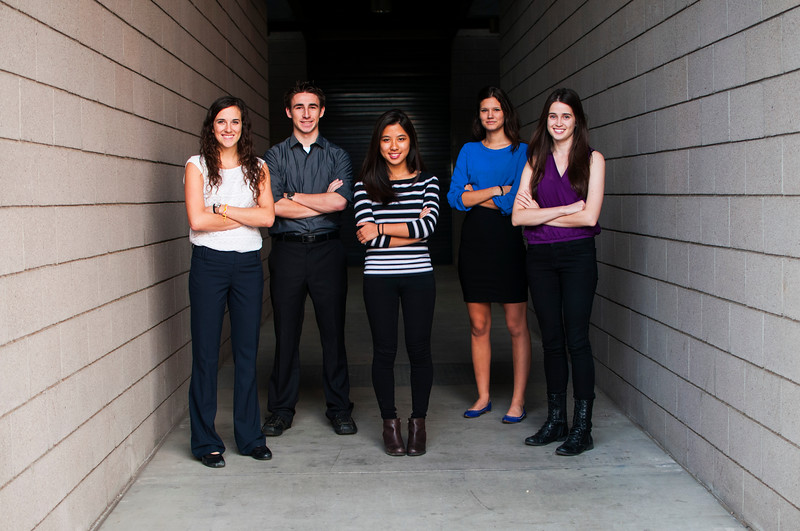 Engineering Smiles team members include, from left to right, Sara Mantlik, Nicholas Kemme, Christine Bui, Jackie Janssen, Fionnaula McPeake and Andrea Kemmerrer (not pictured).