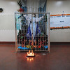 An altar honoring the Virgin Mary and candles are the first thing visitors see as they arrive at Hospital Asunción in Juigalpa.