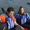 Helen Reeves and Mike Bushell filming the Big 5 kayak challenge for BBC1