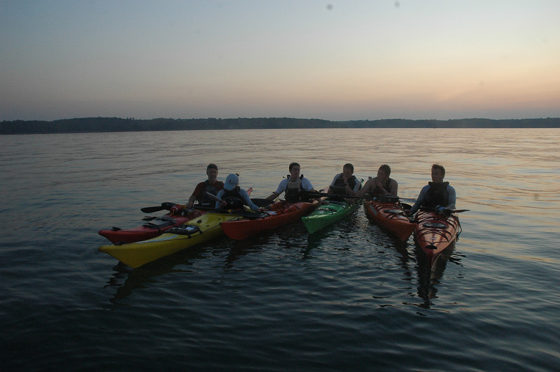 Rafted up mid water on the Solent