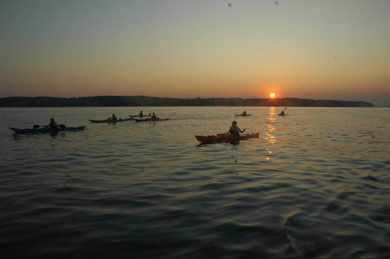 Sea kayaking across the Solent in September 2008