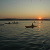Sea kayaking across the Solent in September 2008