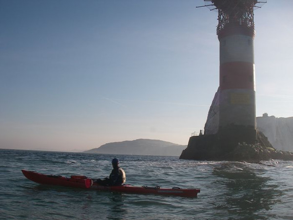 Sea kayaking at the Needles, Isle of Wight