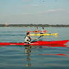 Glorious weather sea kayaking down Southampton Water, Dave Gordon, Aisling and Richard Harpham