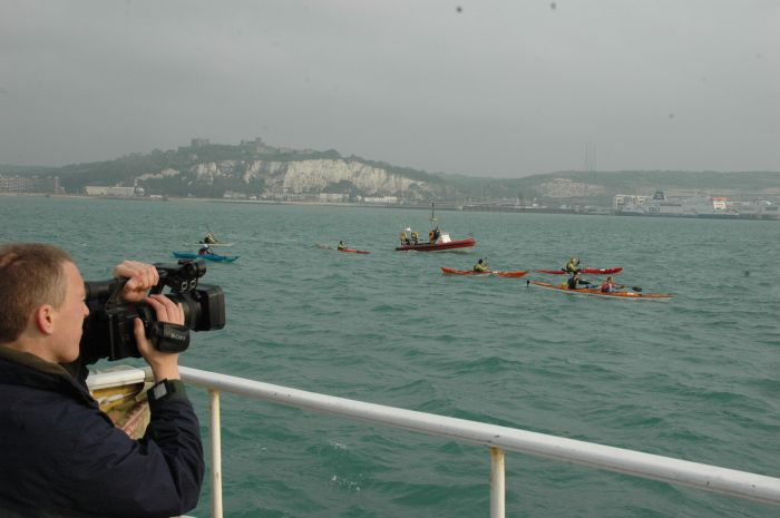 Our illustrious camera man before getting struckdown with sea sickness