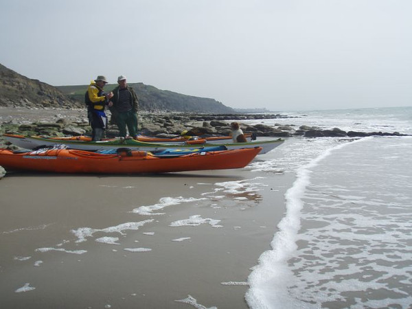 Rob talking to a local at Cap Griz Nez after our crossing