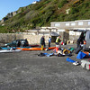Getting ready to leave Lamorna Cove, Sea kayaking Lands End to the Isles of Scilly