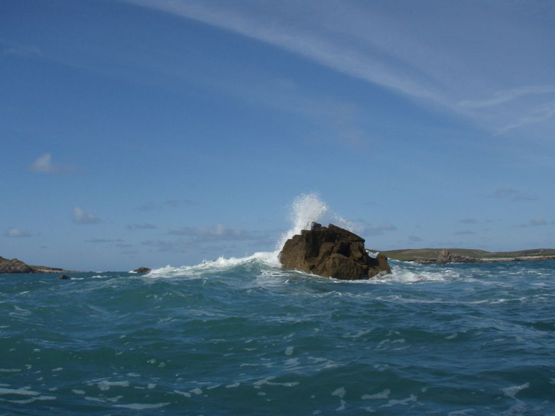 Few waves off the isles of Scilly, great sea kayaking location