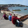 Geoff, Aisling and Aaron surveying the World Gig Racing Championships, Isles of scilly